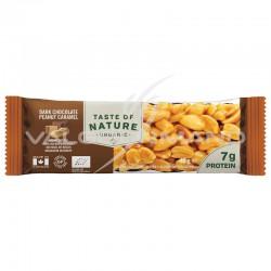 Taste of Nature chocolat cacahuètes barres Bio 40g - la boîte de 16