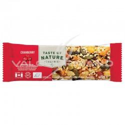 Taste of Nature Cranberry barres Bio 40g - la boîte de 16
