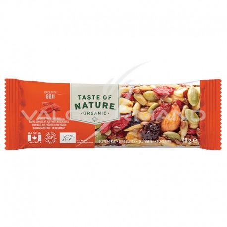 Taste of Nature Goji barres Bio 40g - la boîte de 16