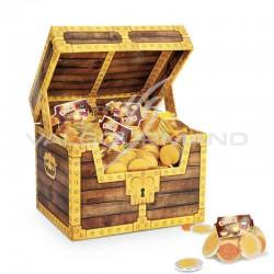 Coffret Pirate Chocomonnaie pièces en chocolat 30g - 80 filets