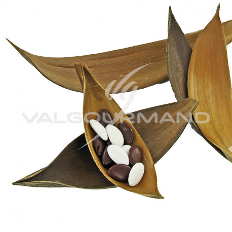 Barques de coco véritable - 10 pièces