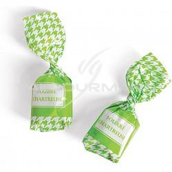 Bonbon fourré à la Chartreuse forte (verte) - 1kg