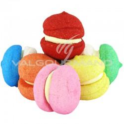 Macarons XXL en guimauve - carton de 2.75kg (50 pièces)