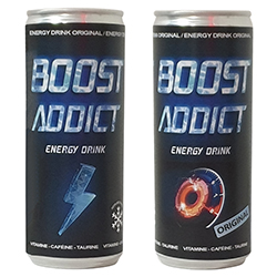 BOOST ADDICT Energy Drink 25cl - 24 canettes en stock
