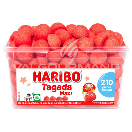 Fraises Tagada maxi HARIBO - tubo de 210