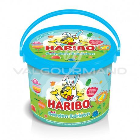 Seau Garden Edition HARIBO garni de sachets de confiserie - 760g