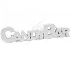 Déco de table CANDY BAR en bois BLANC - pièce