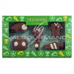 Coffret Football - sujets en chocolat au lait - 100g