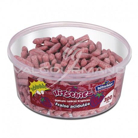 Hitschies acidulés fraise - tubo de 300