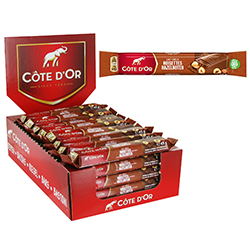 Côte d'Or lait noisettes 45g - boîte de 32