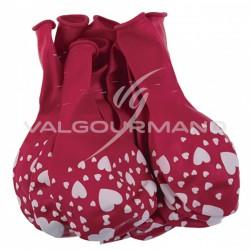 Ballons imprimés coeur - sachet de 10 en stock