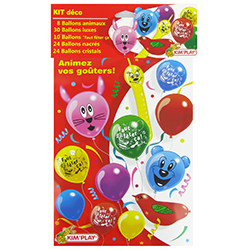 Ballons décorations de fêtes - le kit
