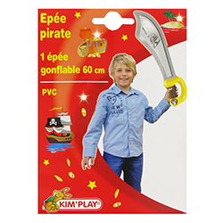 Epée pirate gonflable 60cm - pièce en stock
