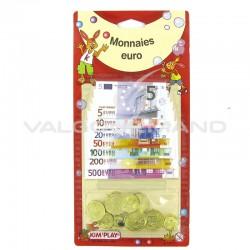Assortiment de pièces et billets en euros (factice et non comestible)