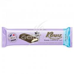 Barres chocolat Double lait Klaus - boîte de 32 en stock