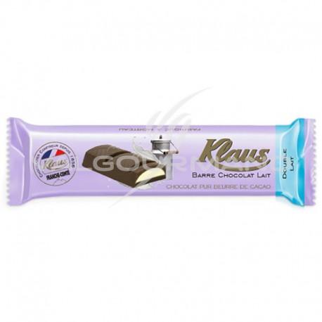 ~Barres chocolat Double lait Klaus - boîte de 32