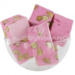 Nougats aux amandes cubes tendres Fraise - 3kg en stock