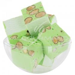 Nougats aux amandes cubes tendres Pistache - 3kg en stock