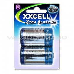 Piles XXCell LR20 blister de 2 - le lot de 12 (soit 2.49€ pièce !) en stock