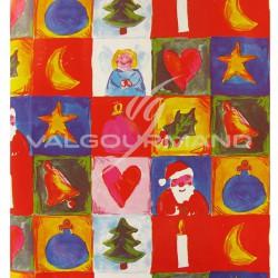 Papier cadeau Noël ROUGE - le rouleau