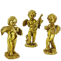 Ange musicien doré - 3 modèles assortis