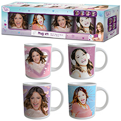 Mugs Violetta - 4 modèles assortis en stock