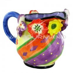 Pot à lait en céramique Fleurs - pièce en stock