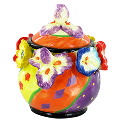 Sucrier en céramique Fleurs - pièce