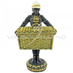 Figurine coloniale Statuette grand panier - pièce