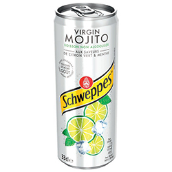 Schweppes Virgin mojito 33cl - 24 canettes