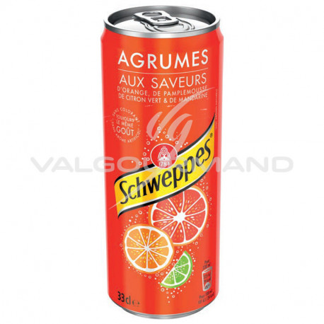 Schweppes agrum' 33cl - 24 canettes