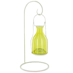 Photophore lanterne en métal et verre (bougie comprise) - pièce en stock