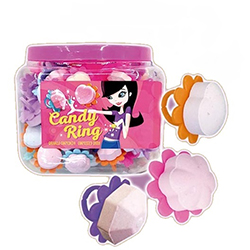 Candy ring Bagues - tubo de 120