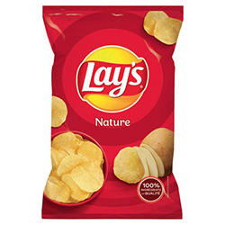 Chips nature sel lay's 145g - 20 paquets