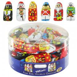 Figurines de Noël en chocolat au lait - 400g en stock