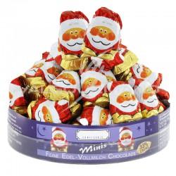 Pères Noël en chocolat au lait - tubo de 400g en stock