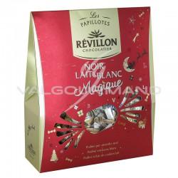 Papillotes en chocolat noir, lait, blanc Magique Révillon - pochette de 365g en stock