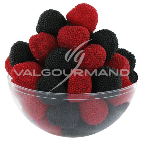 Mûres rouge et noir perlées - sachet de 385