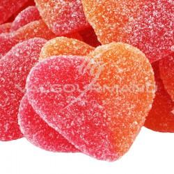 Coeurs de pêche candies - sachet de 385
