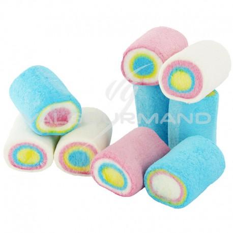 Finitrons Dianas roulés multicolores en guimauve - 1kg