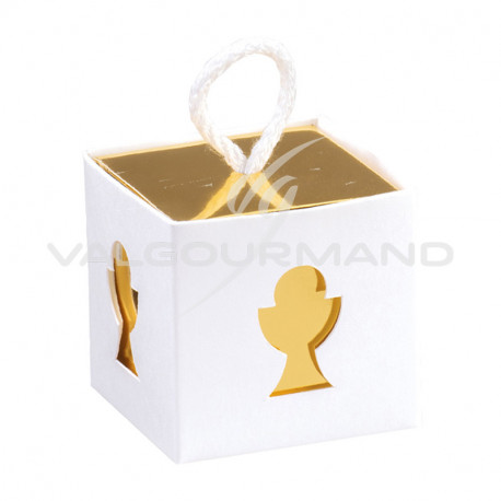 Boîte cube calice et cordelette - pièce