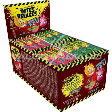 Têtes Brûlées barres de feu (pomme cerise) - boîte de 150