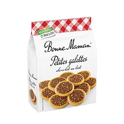 Petites galettes chocolat lait Bonne Maman 250g - 12 paquets en stock