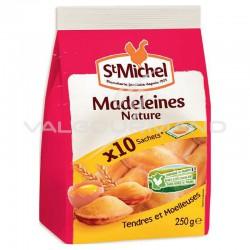 Madeleines coquilles pliées en sachet de 10 / 250g - carton de 9 paquets en stock