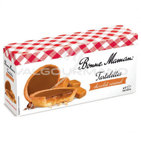 Tartelettes chocolat lait et caramel Bonne Maman 135g - 12 paquets
