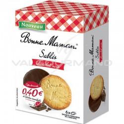Sablés nappés chocolat noir Bonne Maman 160g - 8 paquets en stock
