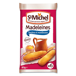 Madeleines longues natures St Michel 80g - 20 paquets en stock