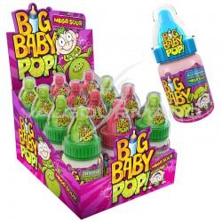 Big baby pop acidulé méga sour - boîte de 12