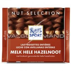 Ritter Sport lait noisettes 100g - boîte de 10 en stock
