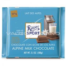 Ritter Sport lait des Alpes 100g - boîte de 12